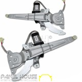 NEW Toyota 80 Series Land Cruiser REAR Window Regulator & Motor 90-98 PAIR LH RH