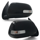 Door Mirror Black With Indicator PAIR Fits Toyota Hilux SR5 2011 - 2014