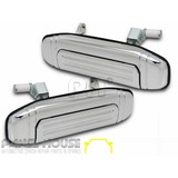 Mitsubishi Pajero NH NJ NK '91-'97 LH+RH REAR Pair Chrome Outer Door Handle NEW