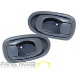 Hyundai Lantra 98-00 L3 PAIR L+R Front Interior Door Handle Light Grey Inner NEW