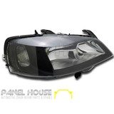 Headlight RIGHT Black Style fits Holden TS Astra 98-04 Sedan Hatch