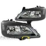 Headlights PAIR Black Style fits Holden TS Astra 98-04 Sedan Hatch PR