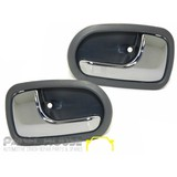 Mazda 323 BJ Protege 98-03 Front PAIR L+R Interior Chrome Grey Door Handle Inner NEW