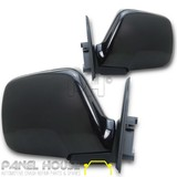 Door Mirror PAIR Black Manual Fits Toyota Landcruiser 80 Series 90-97