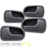 Mazda B2500 B Series Ute '99-'02 Front Rear Inner Door Handle Grey x4 LH RH Set