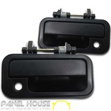 Door Handle PAIR Black Front Outer fits Holden Rodeo TF Ute 88-02
