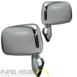 Door Mirrors PAIR Chrome Skin Mount With Cap Fits Toyota Hilux 97-01