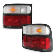 Tailights PAIR Red Clear ADR Fits Toyota Coaster BB50 Bus 02- On RH+LH