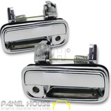 Door Handle PAIR Front Outer Full Chrome Fits Toyota Hilux Dual Cab 01-05