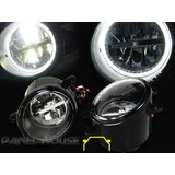 Fog Lights PAIR Front Bar Driving Twin LED HALO CCFL Fits Toyota Rav4 Wagon 08-12