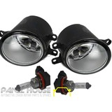 Fog Driving Light + H11 Bulb PAIR Replacement Fits Toyota KLUGER GSU4 07-10 NEW
