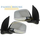 Nissan Navara D40 07-14 PAIR LH+RH Chrome Elec Door Mirror With Indicator NEW