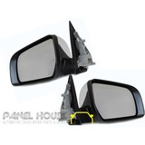 Door Mirrors PAIR Chrome Electric AUTOFOLD fits Ford Ranger PX Ute 11-19