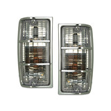 Pair Of Clear Corner Lights fits Holden HJ HX HZ Kingswood / Statesman