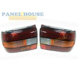 Tail Lights PAIR Clear Lens fits Holden Commodore VN Sedan