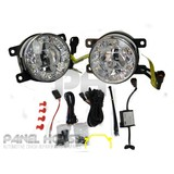 Universal PAIR Of LED High Power Projector Fog Light With DRL LH+RH NEW Uni 90mm