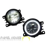 Fog Lights PAIR Twin LED with Halo fits Ford Ranger PX1 2011-2015