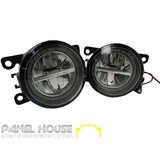 Fog Lights PAIR Twin LED with Halo Style fits Ford Fiesta WQ WP & XR