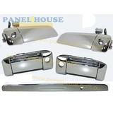 Exterior Handles + Tailgate Garnish SET OF 4 Chrome Fits Toyota Hiace 200 Series