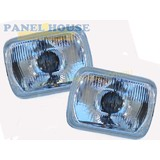 Headlights PAIR 7X5 H4 Type With Park Fits Toyota Hilux Ute 97-01