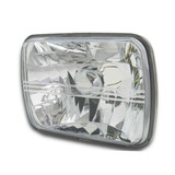 Headlight QTY 1 7x5 Rectangle Semi Sealed Crystal Beam fits Mazda RX7 FC Series 4 & 5 86-92