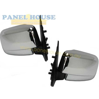 Door Mirrors PAIR Chrome Electric fits Ford Courier PE PG PH Ute 1999-2006