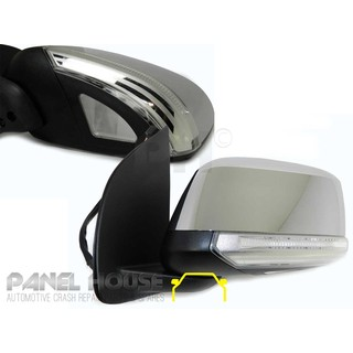 Door Mirror LEFT Chrome Electric With Puddle Light fits Nissan Navara D40 07-14