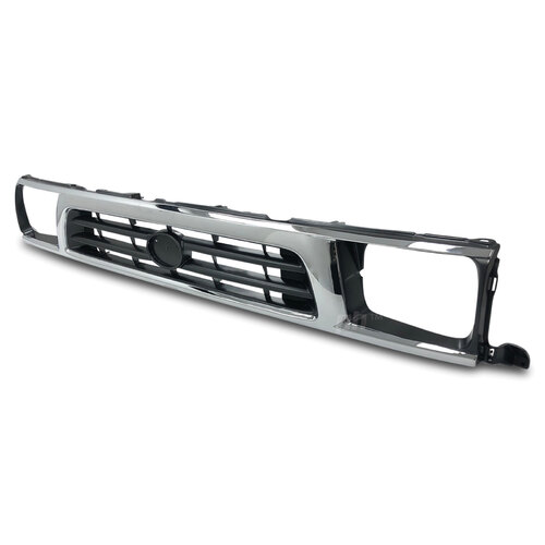 Grill Chrome & Grey Fits Toyota Hilux 2WD Workmate 1997 - 10/2001